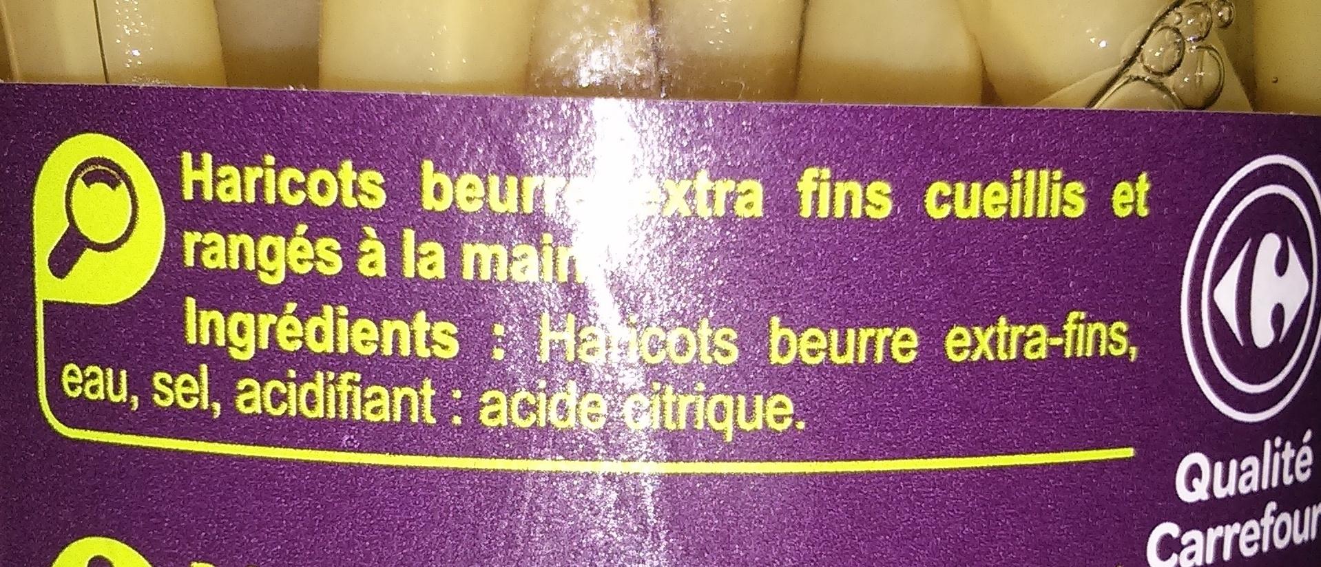 Haricots beurre extra- fins - Ingrédients - fr