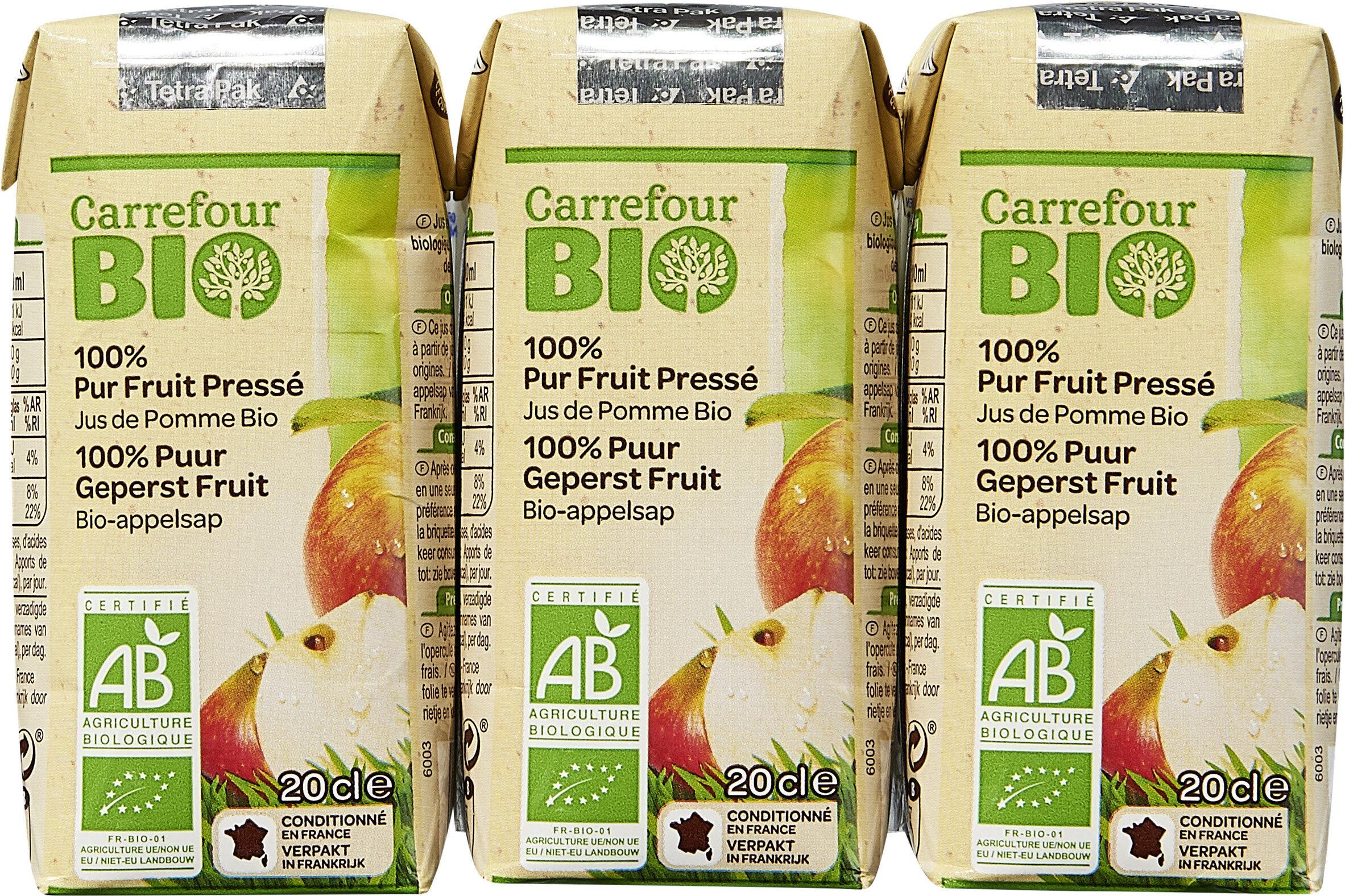 100% Pur Fruit Pressé Jus de Pomme Biologique - Prodotto - fr