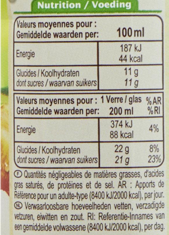 100% Pur Fruit Pressé Jus de Pomme Biologique - Valori nutrizionali - fr