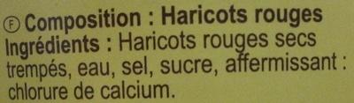 Haricots rouges - Ingrédients
