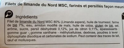 Limande du nord - Ingrediënten - fr
