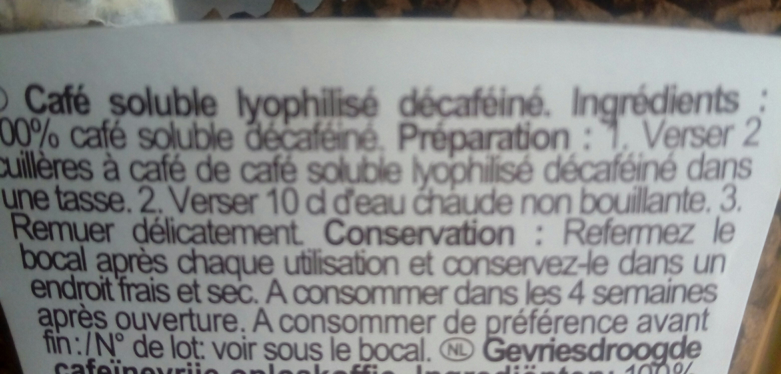 Café filtre - Ingrédients - fr