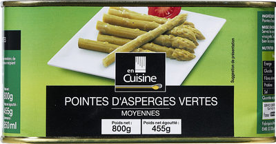 Pointes d'asperges vertes - Product - fr