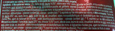 Assortiment De Mini-viennoiseries Pur Beurre - Ingrediënten - fr