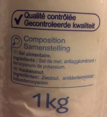 Gros sel de mer - Ingrédients - fr