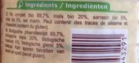 Galettes 4 céréales - Ingrediënten