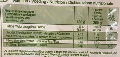 Haricots Verts Très Fins - Información nutricional - fr