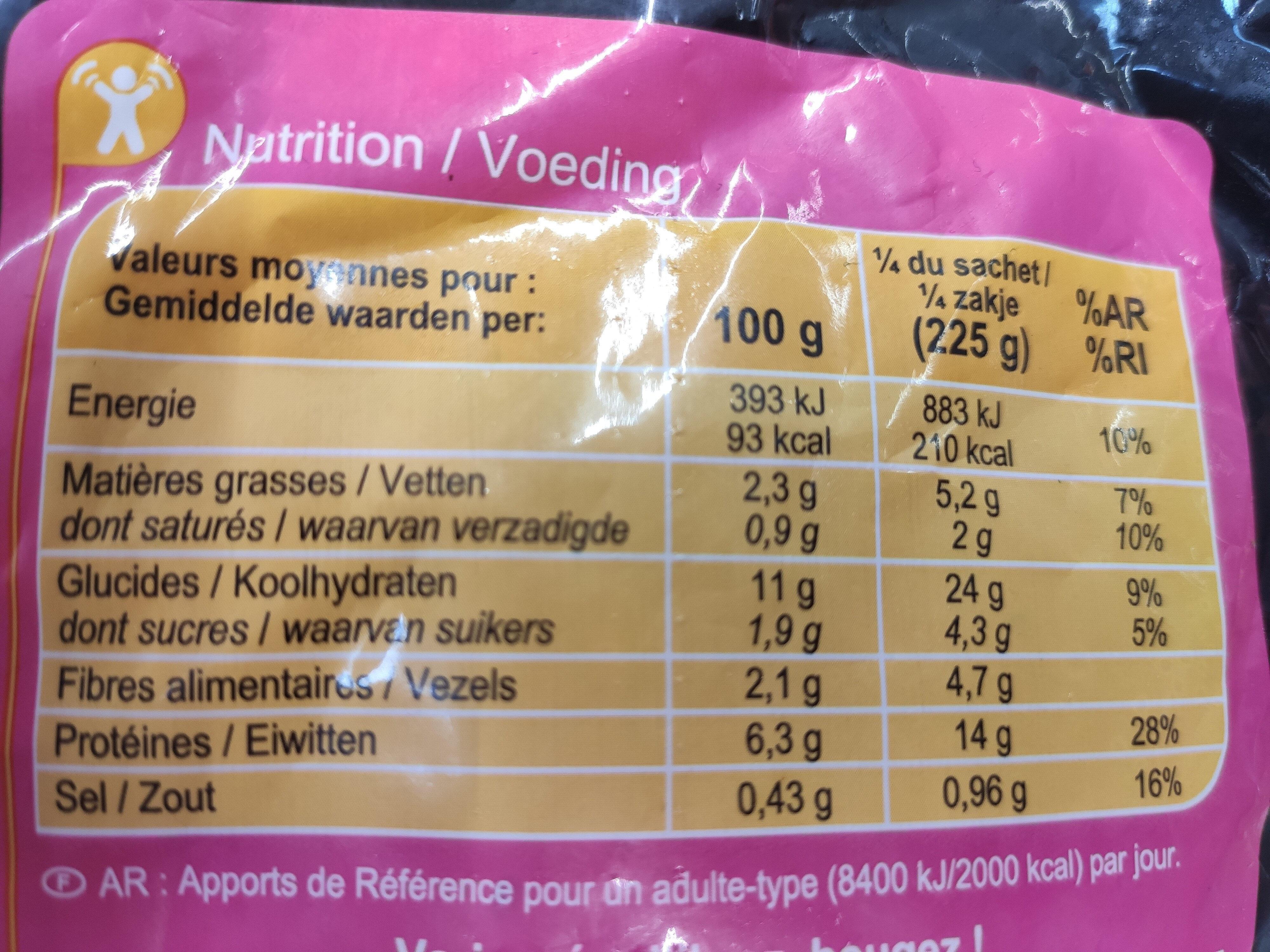 Poêlée façon Thaï au poulet - Voedingswaarden - fr