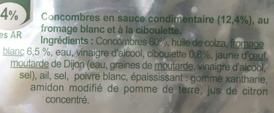Concombres - Ingredients