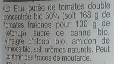 Tomato Ketchup - Ingredients