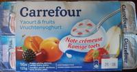 Yaourt & fruits (Fraise, pêche, abricot, cerise, mûre, poire) 16 Pots - Product