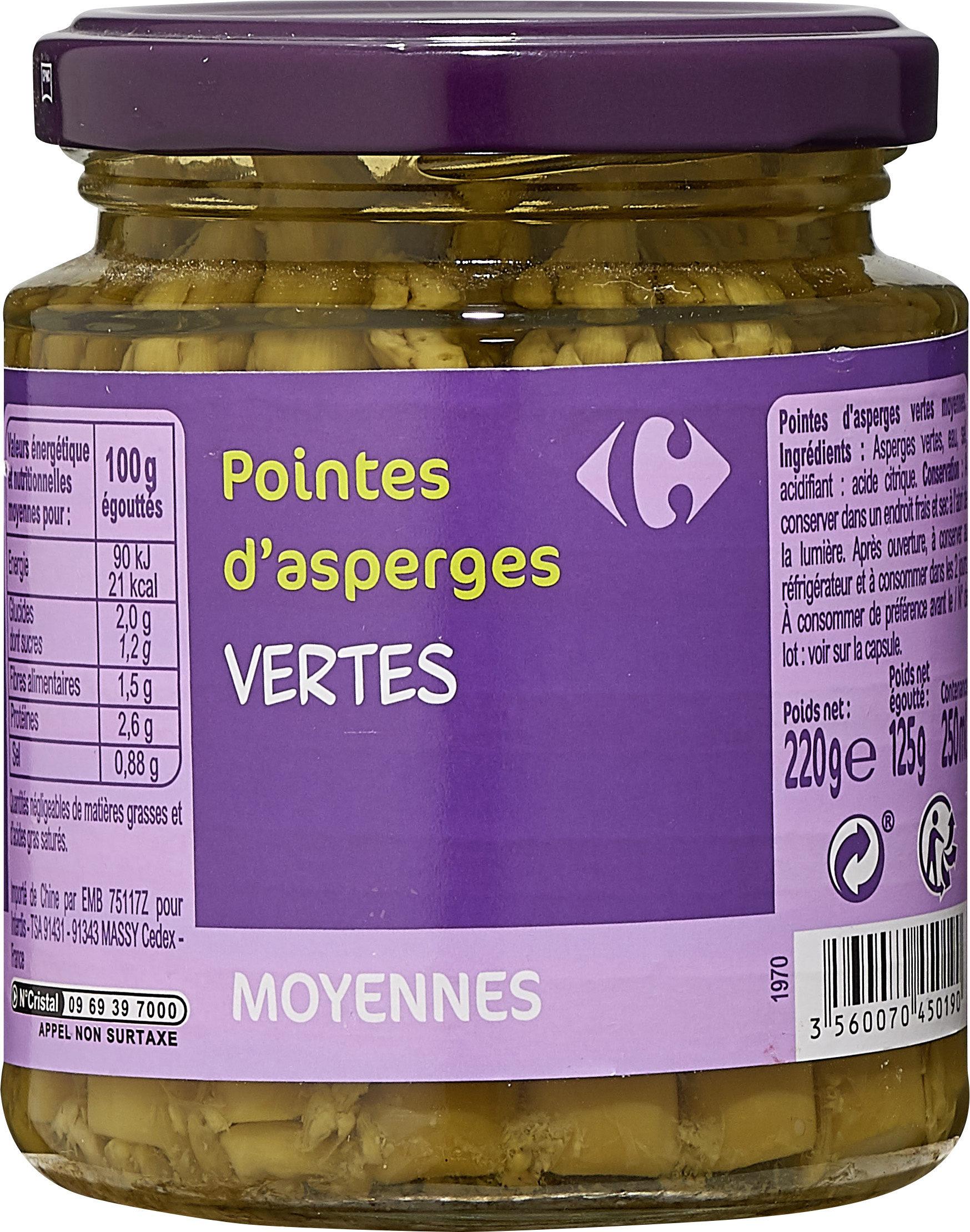 Pointes  d'asperges  vertes - Producte - fr