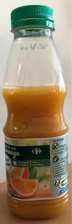 Orange 100 % Pur Fruit Pressé sans pulpe - Product - fr