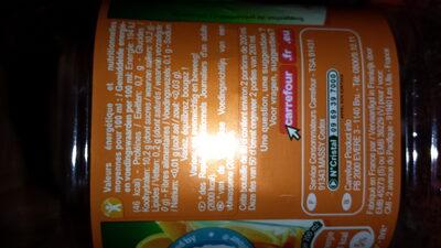 Orange 100 % Pur Fruit Pressé sans pulpe - Nutrition facts - fr
