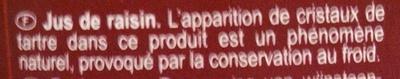 PUR JUS Raisin - Ingrédients - fr