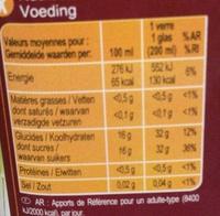 PUR JUS Raisin - Informations nutritionnelles - fr