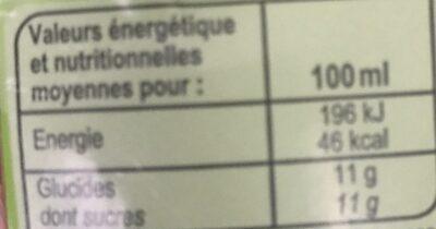 Jus de pomme - Valori nutrizionali - fr