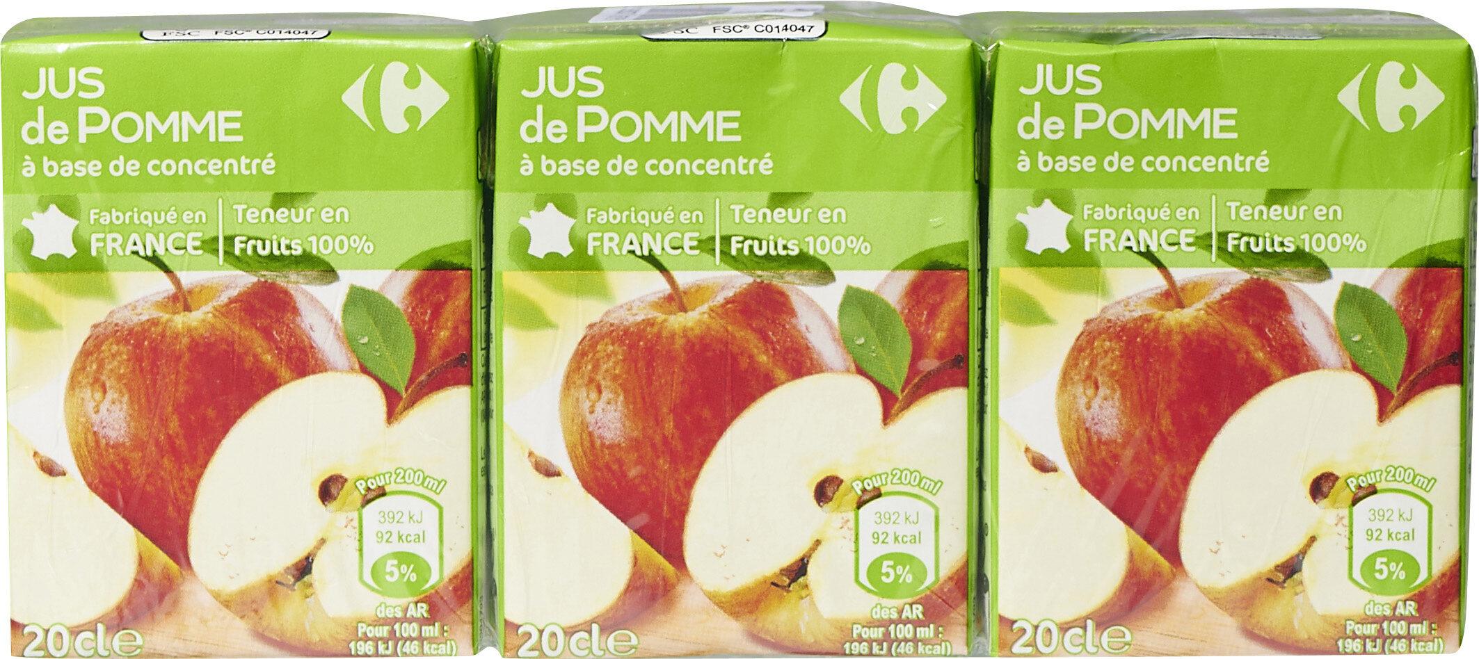 Pomme, Jus à base de concentré - Product - fr