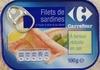 Filets de sardines à huile d'olive et au citron (À teneur réduite en sel) - Produit