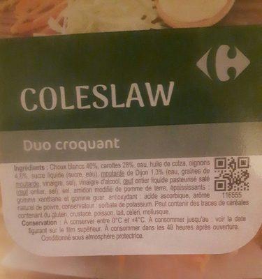 Coleslaw Duo croquant - Ingrediënten - fr