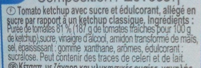 Ketchup -50% de sucres - Ingrédients - fr