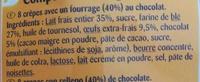 CRÊPESfourrage au Chocolat - Ingredientes - fr