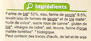 Pain spécial de campagne - Ingrediënten - fr