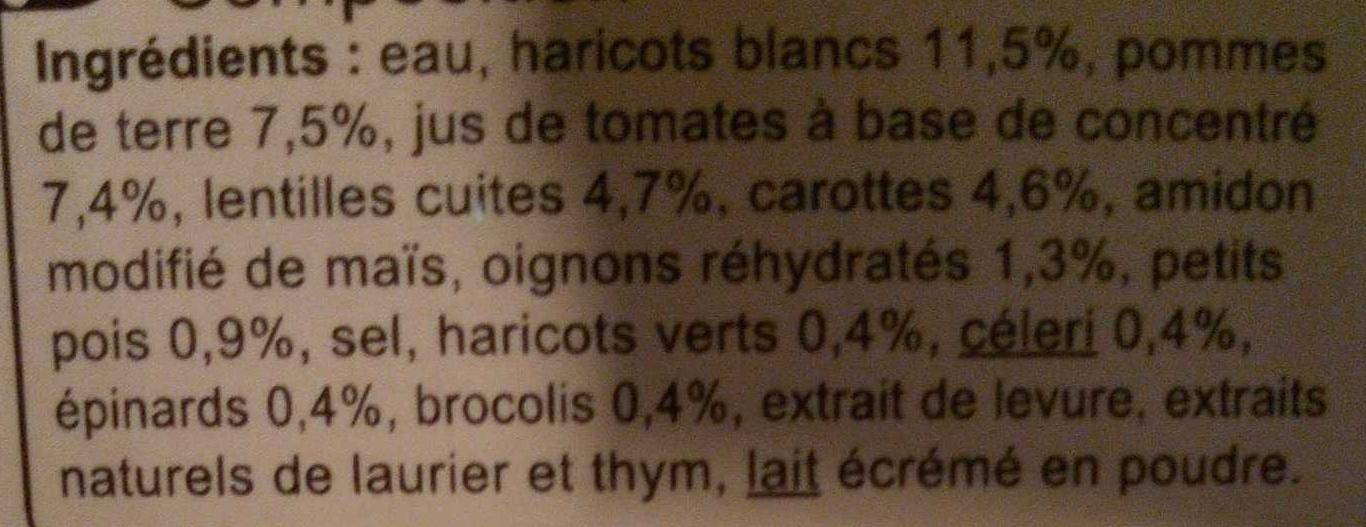 Mouliné aux Légumes et Lentilles - Ingrediënten