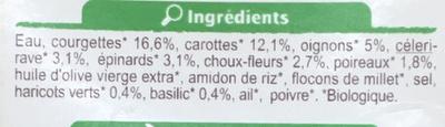 Velouté aux courgettes et au basilic - Ingredientes - fr