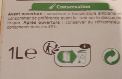 Velouté aux courgettes et au basilic - Instrucciones de reciclaje y/o información de embalaje - fr