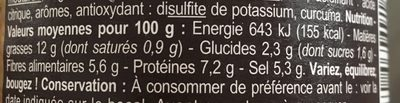 Moutarde à l'ancienne - Informations nutritionnelles