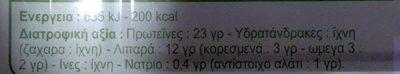 Filets de Sardines à l'Huile d'Olive Vierge Extra - Informations nutritionnelles - fr