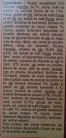 Crunchy Muesli Cappucino - Ingrédients - fr
