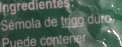 Fideo Entrefino - Ingredients