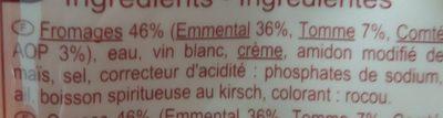 Carrefour fondue - Ingrediënten