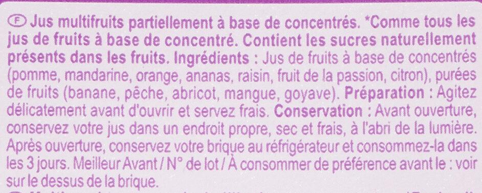 Multifruits - Ingredienti - fr