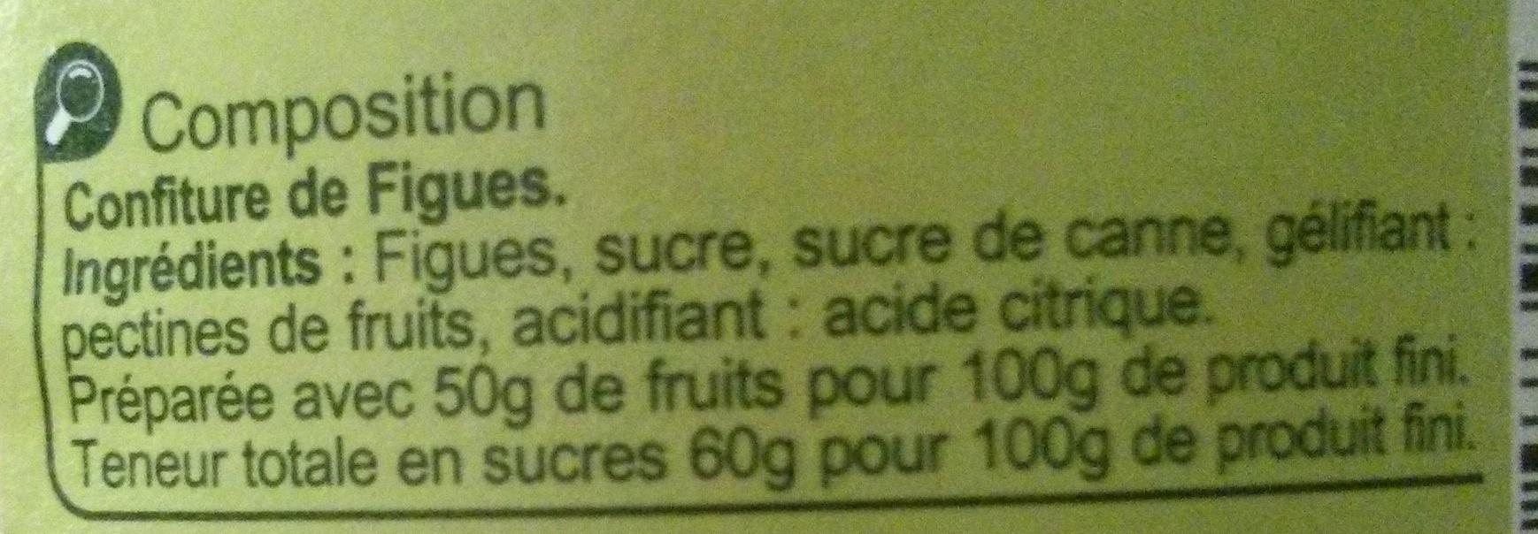 Confiture Figues - Ingredients - fr