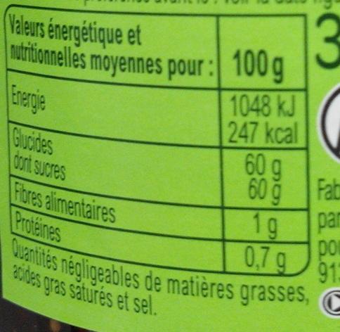 Confiture Figues - Nutrition facts - fr