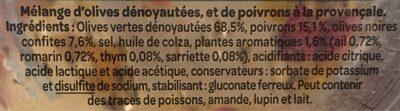 Olives à la Provençale - Ingredients - fr