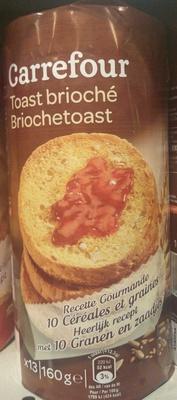 Toast brioché recette gourmande 10 céréales et graines - Produit