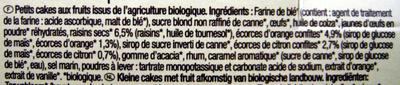 Mini-cakes aux fruits - Ingrediënten - fr