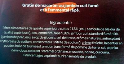 les bons petits plats gratin de macaroni au jambon cuit l 39 emmental r p carrefour avis. Black Bedroom Furniture Sets. Home Design Ideas