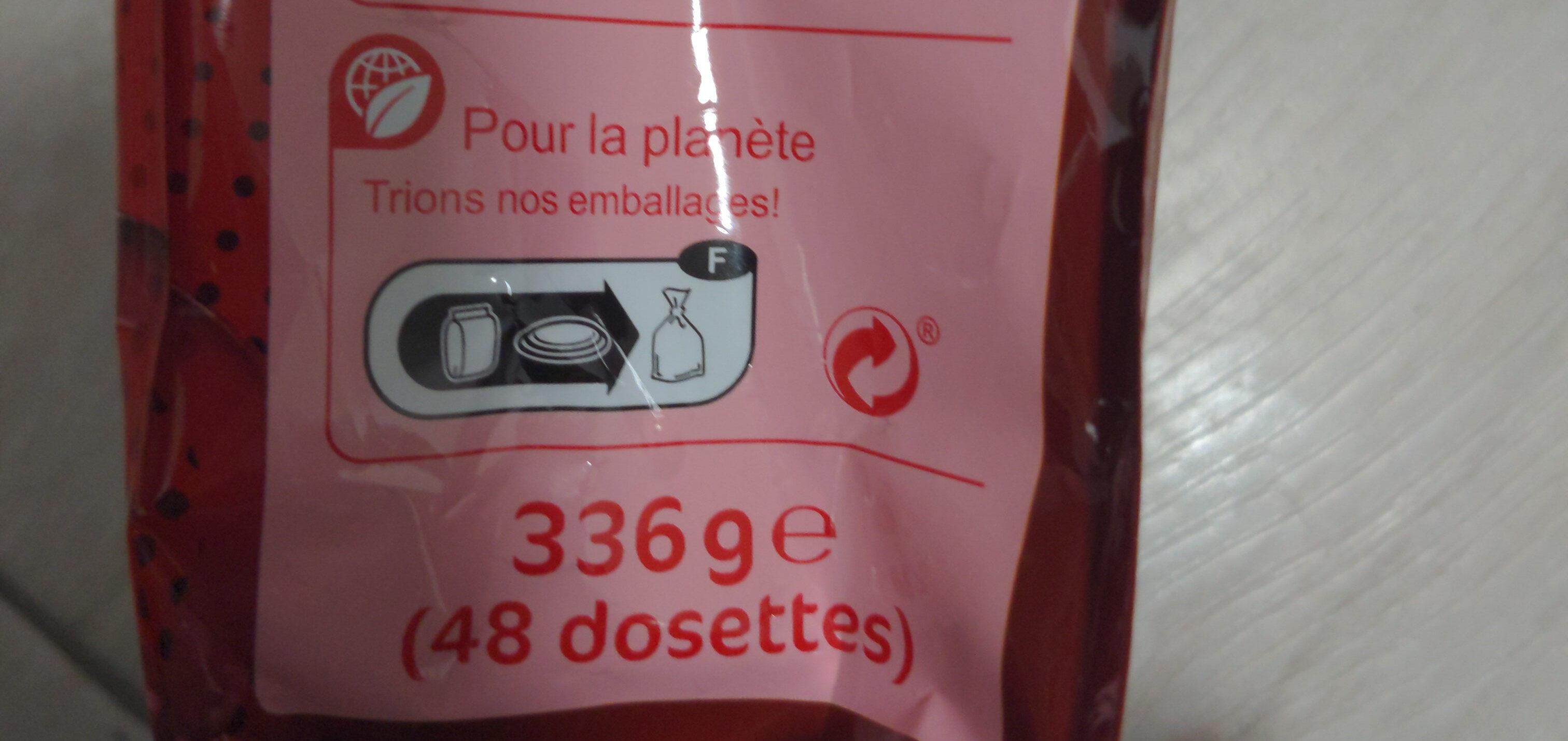 Dosettes de café - Istruzioni per il riciclaggio e/o informazioni sull'imballaggio - fr