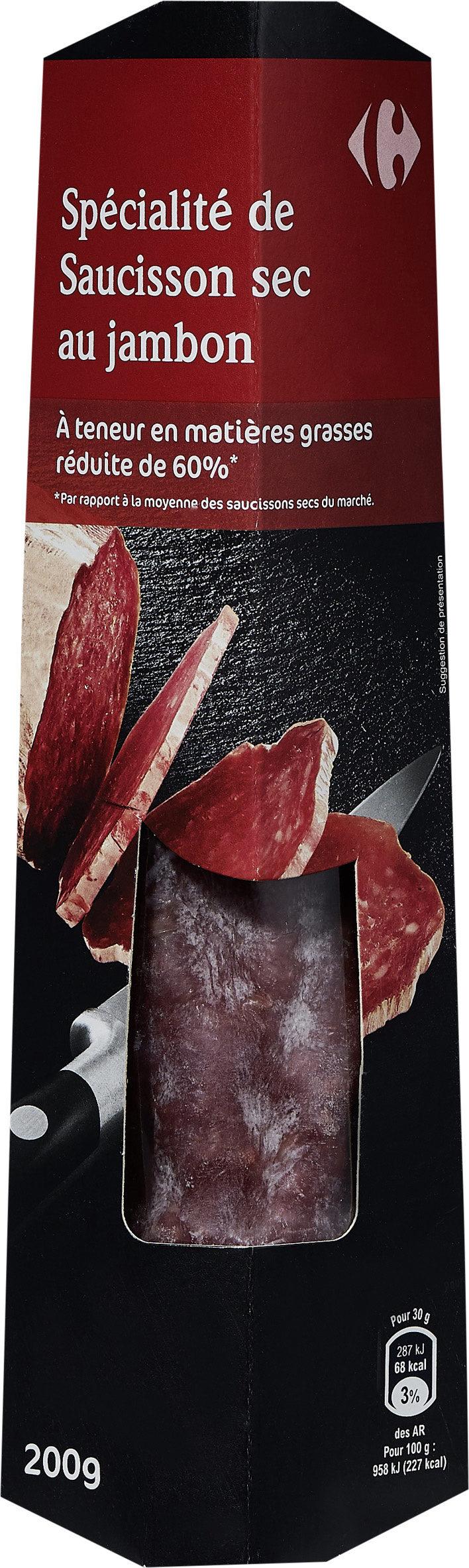 Spécialité de saucisson sec au jambon - Produit - fr