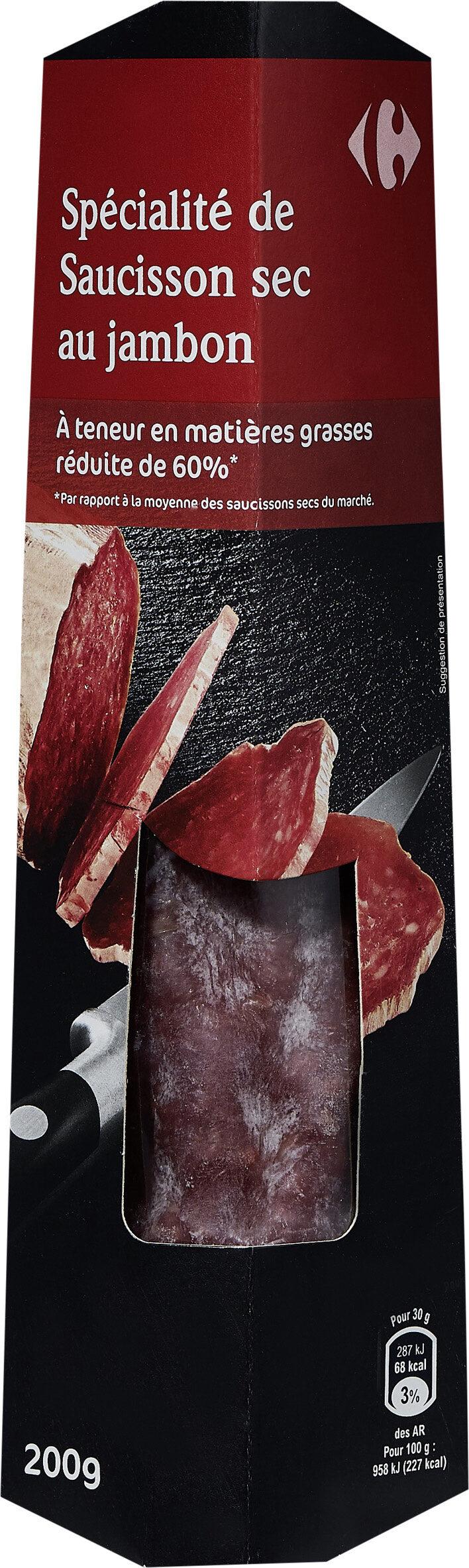 Spécialité de saucisson sec au jambon - Product - fr