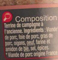 Terrine De Campagne à L'ancienne - Ingrediënten - fr