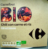 Chili con carne et riz Bio - Produit