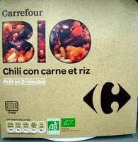 Chili con carne et riz Bio - Produit - fr