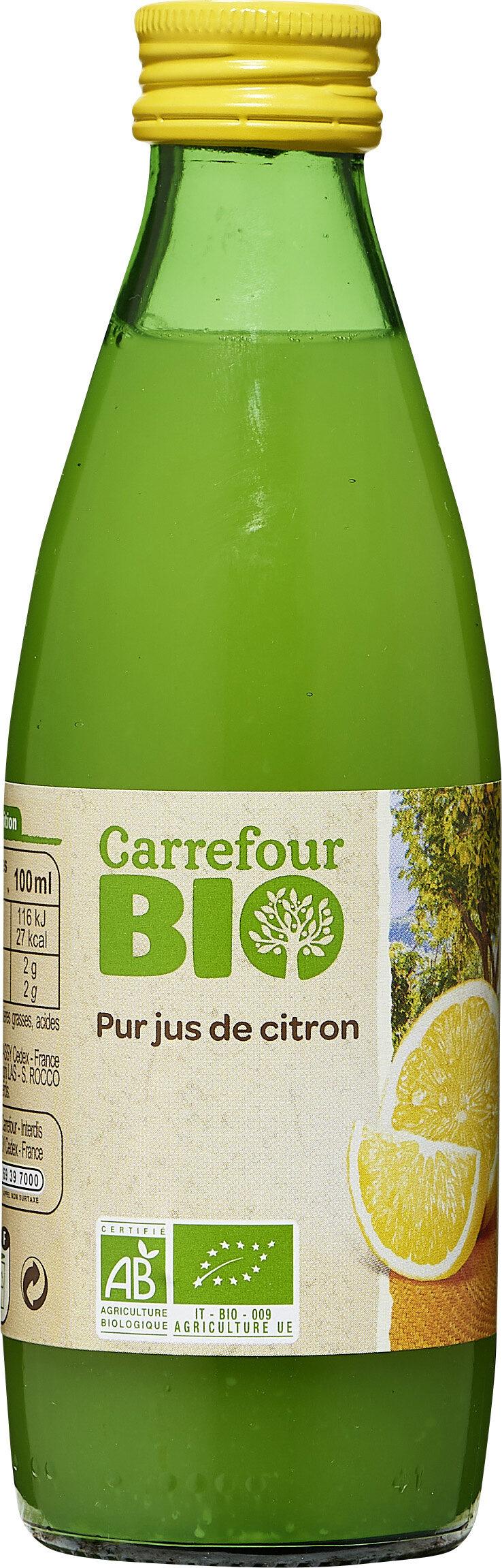 jus de citron CARREFOUR BIO - Produit - fr