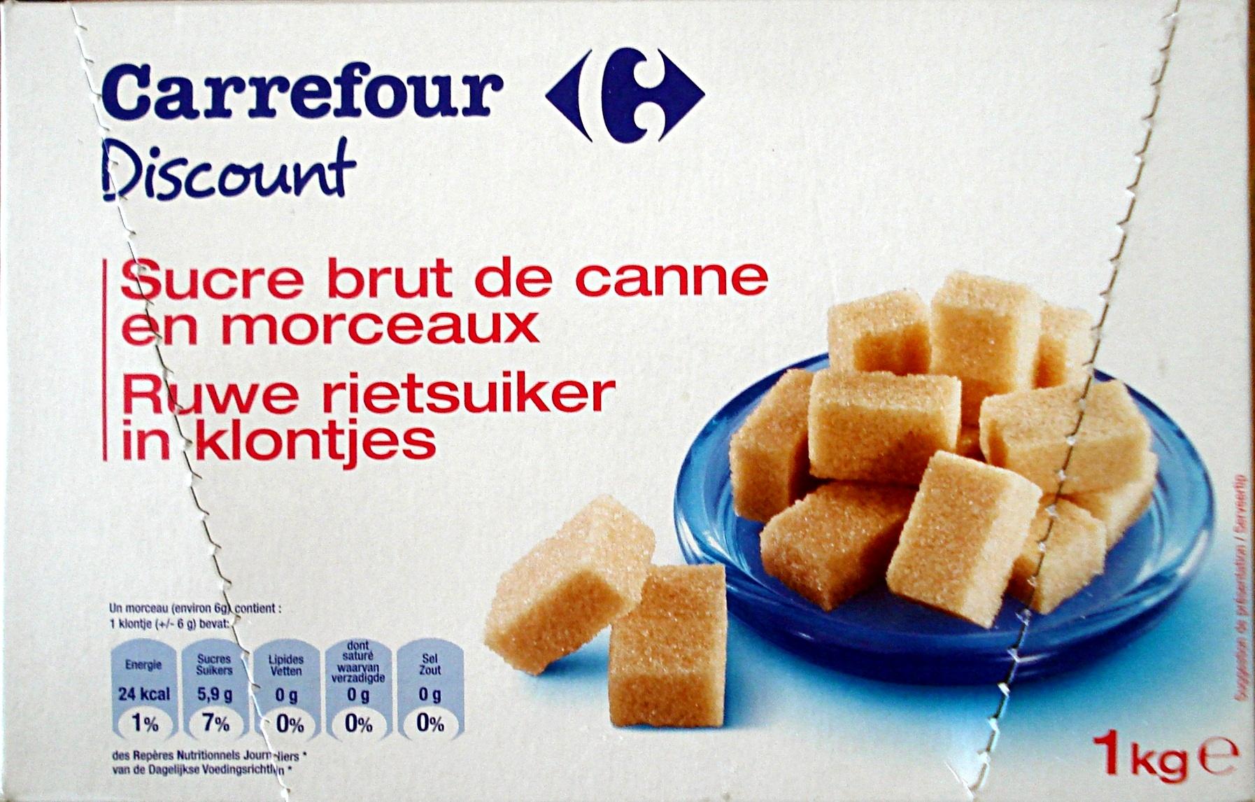 Sucre brut de canne en morceaux carrefour discount 1 kg e for Chambre de sucre coupon code